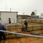 20121228二階スラブコン打設前散水(T邸)