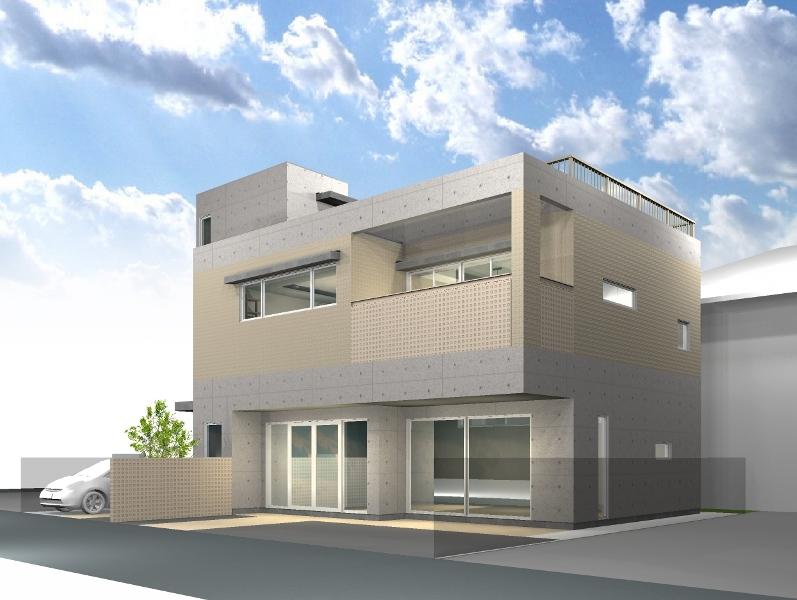 20140520_緑区店舗併用住宅完成イメージ